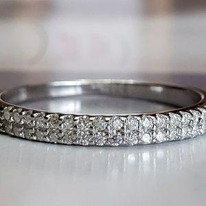 0.23CT Double layer Moissanite Diamond Rin…